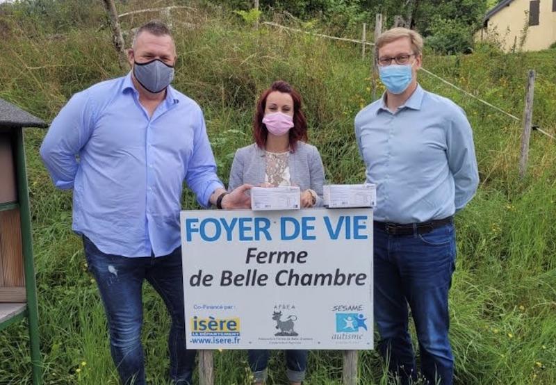Ferme de Belle Chambre : Dotation de 6000 masques